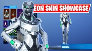 FORTNITE EON EXCLUSIVE SKIN SHOWCASED WITH EMOTES