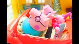 Мультфильм игрушками Свинка Пеппа Свинка Pig За окном лето а у нас зима