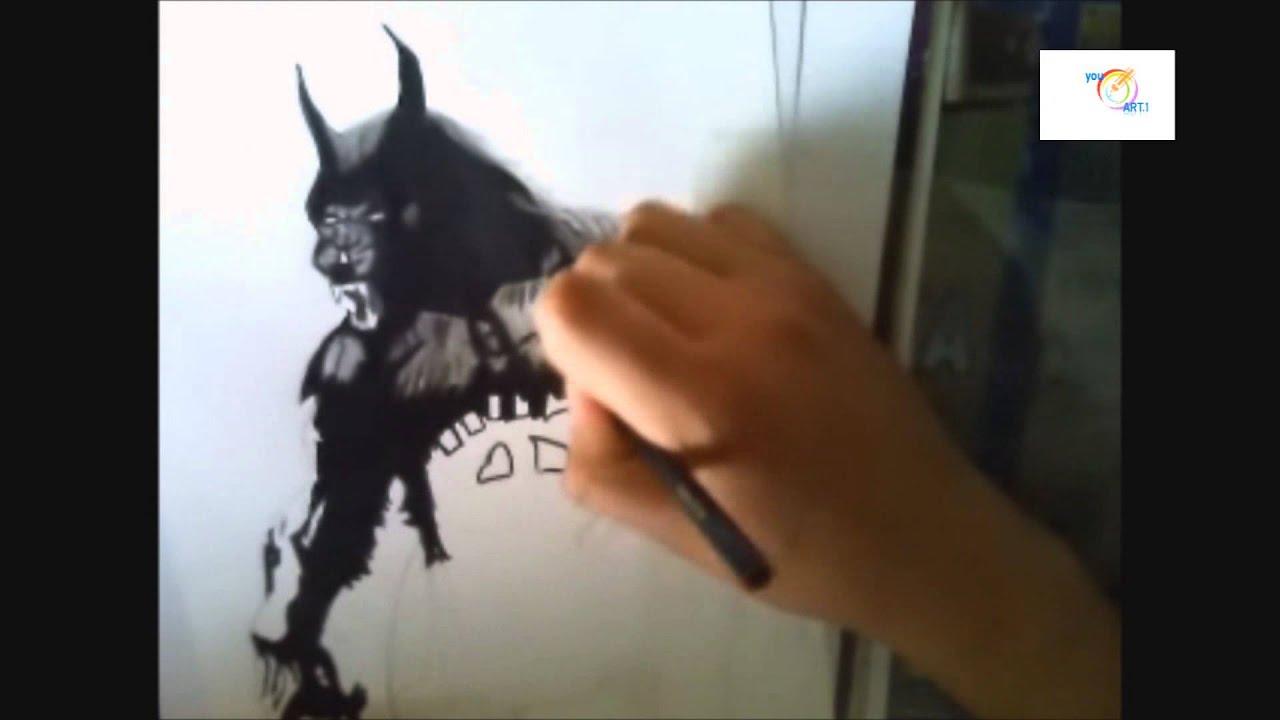 drawing wolfman (van helsing ) especial halloween ( dibujando a el ...