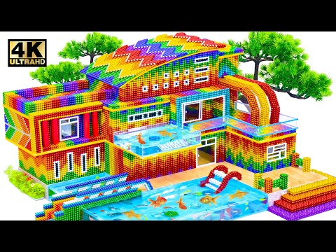 ASMR Video | Build Modern House Have Luxury Waterfall From 2nd Floor