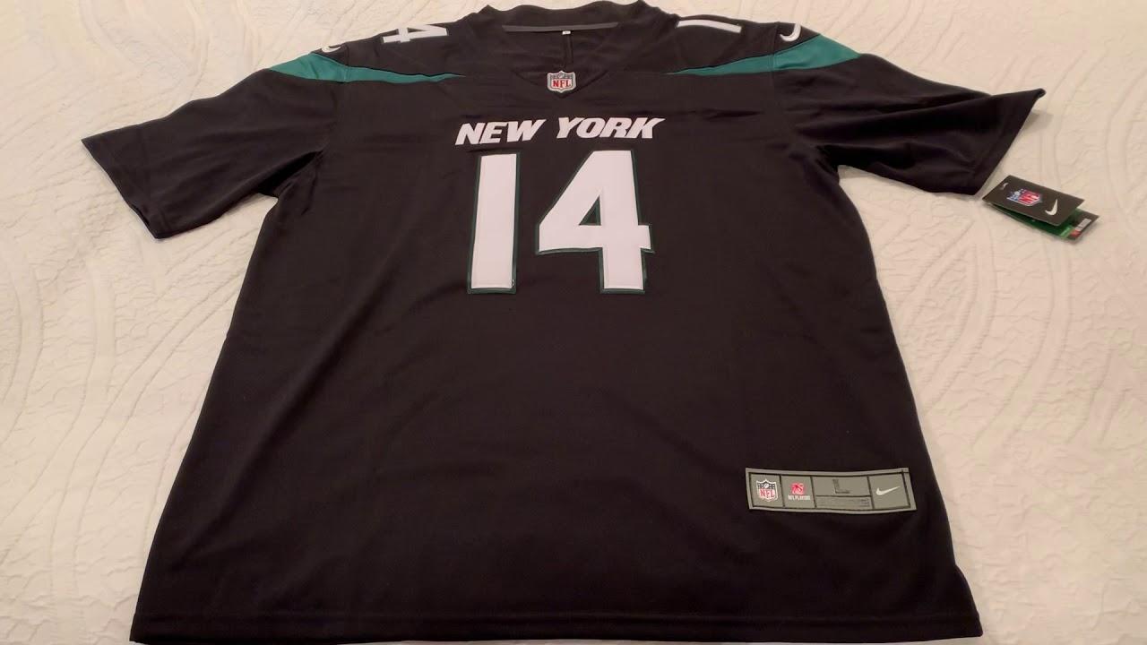 size 40 67710 744a5 Mary Jersey Nike Jets 14 Sam Darnold Black New 2019 Vapor Untouchable  Limited Men Jersey Review