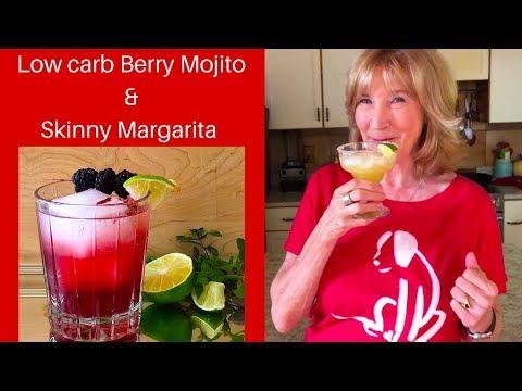 Low Carb Blackberry Mojito & Skinny Margarita