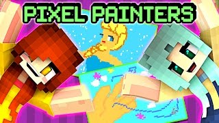 pixel painters with jenny disney theme songs minecraft hypixel server minigame