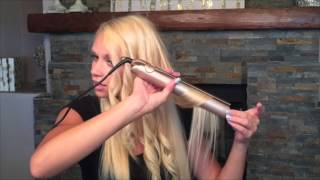 Curling long hair with the TYME Iron