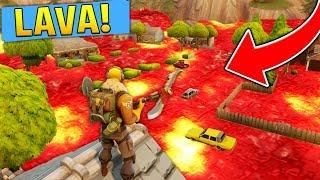 THE FLOOR IS LAVA!! (Fortnite Battle Royale Challenge)