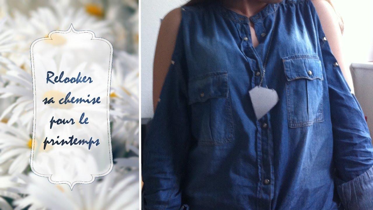 Fabulous DIY | Customiser sa chemise pour le printemps - YouTube CN33