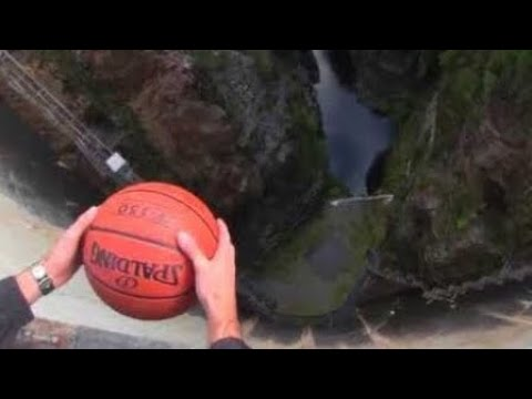 Amazing Basketball Experiment! The Magnus Effect | How Ridiculous