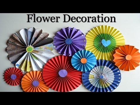 Paper Rosettes - Beautiful flowers - DIY Paper Crafts for teenagers - Room decoration