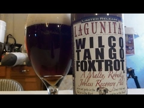 Lagunitas Brewing Co. Wilco Tango Foxtrot (W.T.F.) Imperial Brown Ale DJs brewTube Beer Review #308