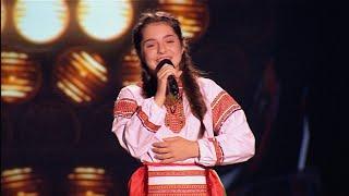 """Виктория Балашова """"Ой, я дівчина Полтавка"""" - Голос. Дети - Выбор вслепую - Сезон 2"""