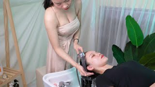 [ASMR] Having a relaxing massage to serve beautiful girls is my happiness