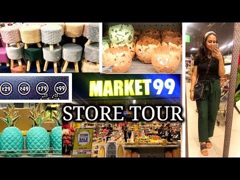 Market 99 Store Tour + Haul | QUIRKY Home Decor | Store 99 Delhi