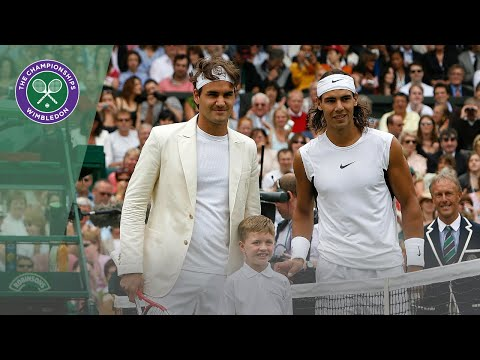 the Beauty and the Beast. Roger Federer and Rafael Nadal Best Shots from Wimbledon '06, '07, '08 in one video