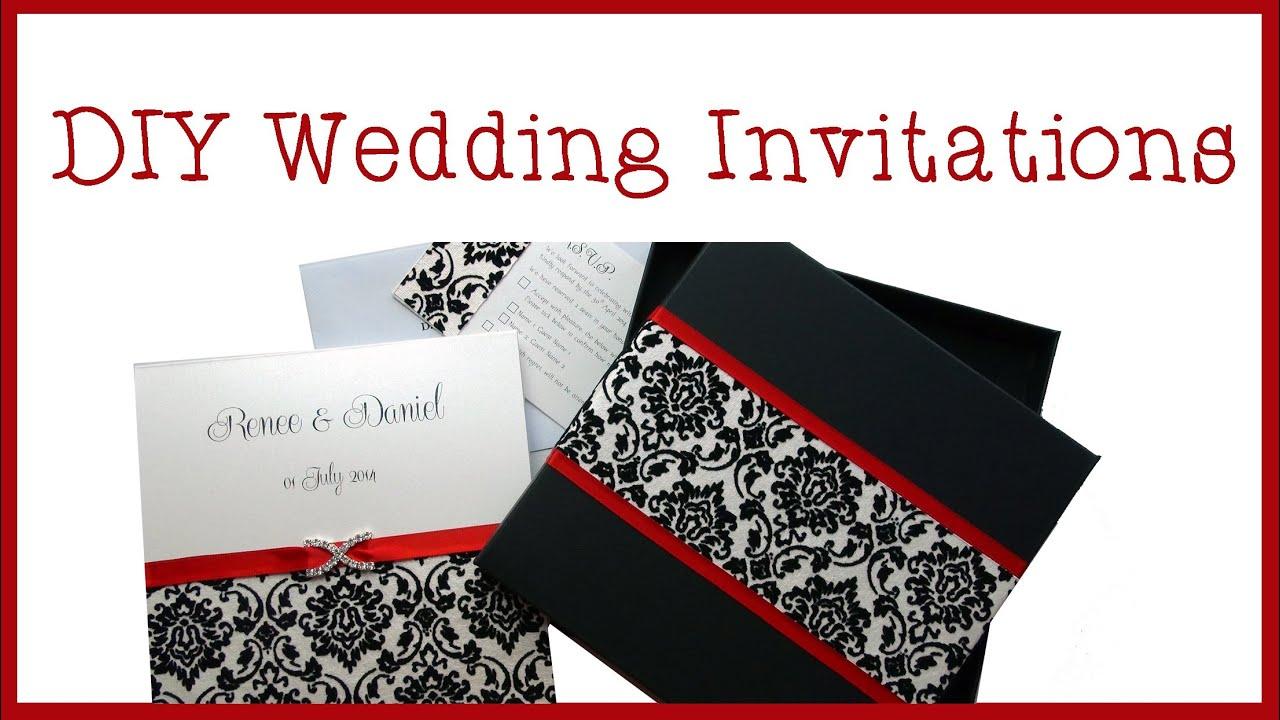Wedding Invitations - DIY - YouTube