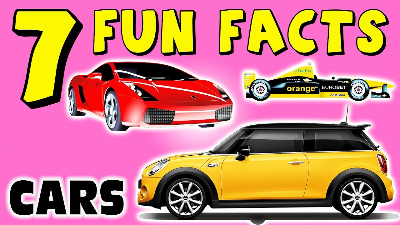 7 fun facts about cars facts for kids learning colors autos race cars motor funny sock puppet