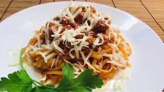 ПАСТА С МЯСНЫМ ФАРШЕМ и томатным соусом. Итальянские мотивы на Вашей кухне.