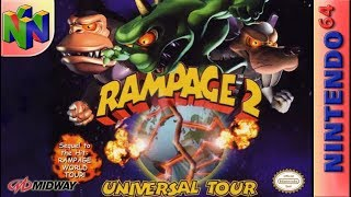 Longplay of Rampage 2: Universal Tour