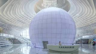 China's Futuristic Library   Tianjin Binhai -  - مكتبة ''عين بينهاوي'' في تيانجين