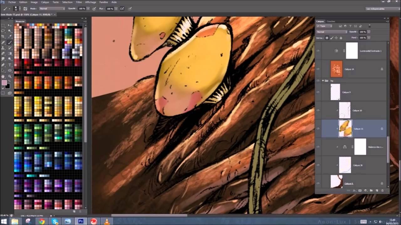 Tutorial photoshop Colorisation d un tronc d arbre