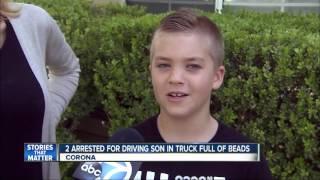 Boy in a truck full of beads leads to parent's arrest