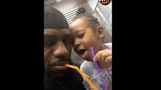 After tough stretch on the court, LeBron relaxes at home with his daughter Zhuri