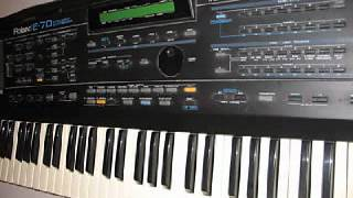 Roland E-70 Demo Song nr.1 - To The Moon - Demo Music