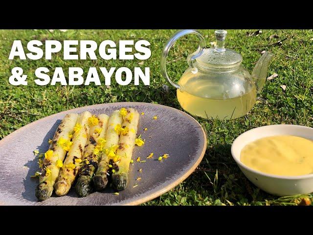 RECETTE: ASPERGES et SABAYON by Nicolas Masse