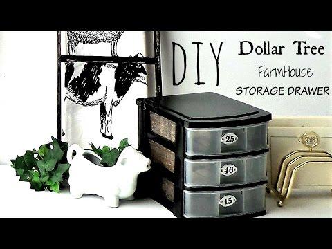 DIY Dollar Tree FarmHouse  Storage Drawer🐄🐓🐐