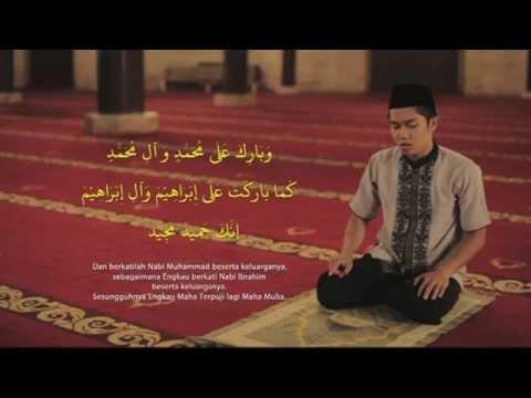 Tuntunan bacaan dan doa sholat : Sholat 2 rakaat (peraga laki - laki)