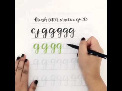 Brush Lettering Lowercase G With Tombow Dual Pen