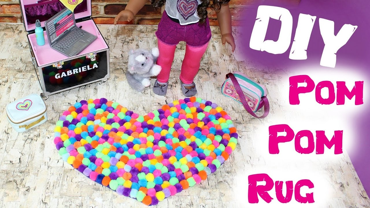 American Girl Doll Pom Pom Rug Diy American Girl Ideas