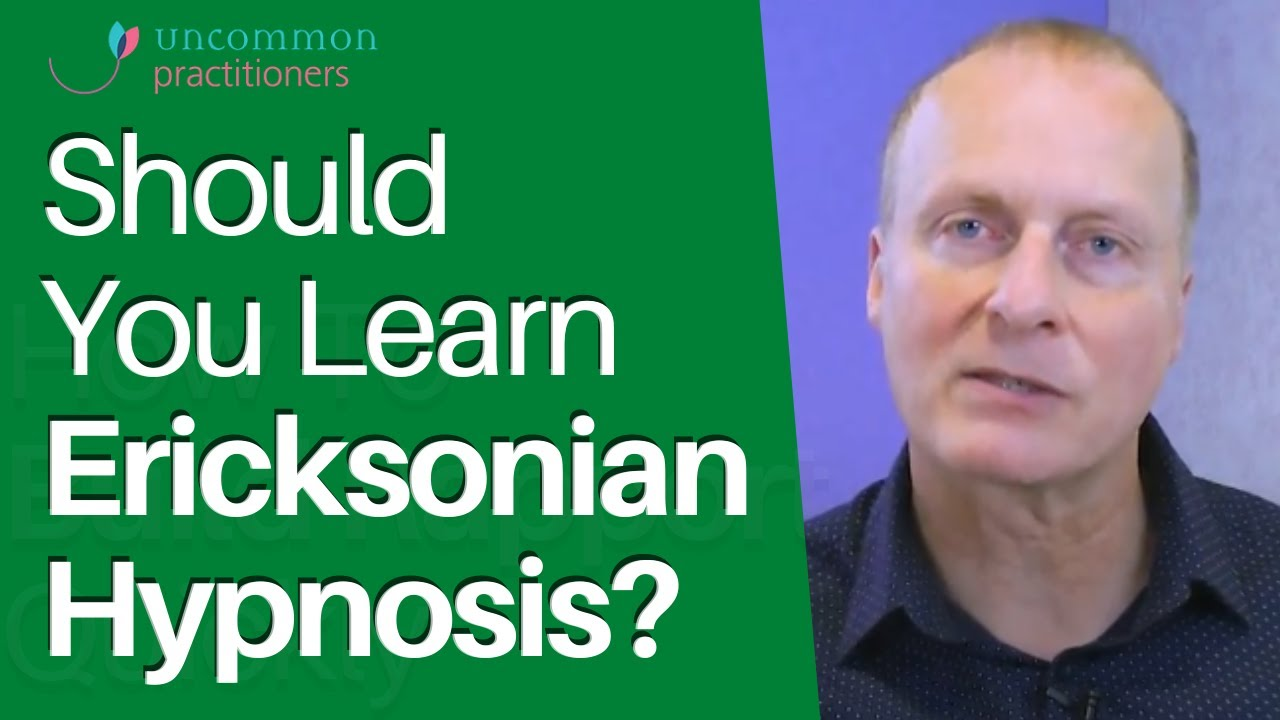 Should You Learn Ericksonian Hypnosis? - YouTube