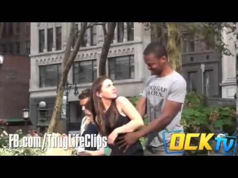 Parkta kadını yakaladı Ve ThugLife Yaptı