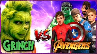 Avengers Vs The Grinch! - Epic Superhero Kids with Nerf
