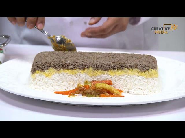Saudi Chef - طريقة تحضير أرز المغازلية باللحم والمهلبية بالمانجة