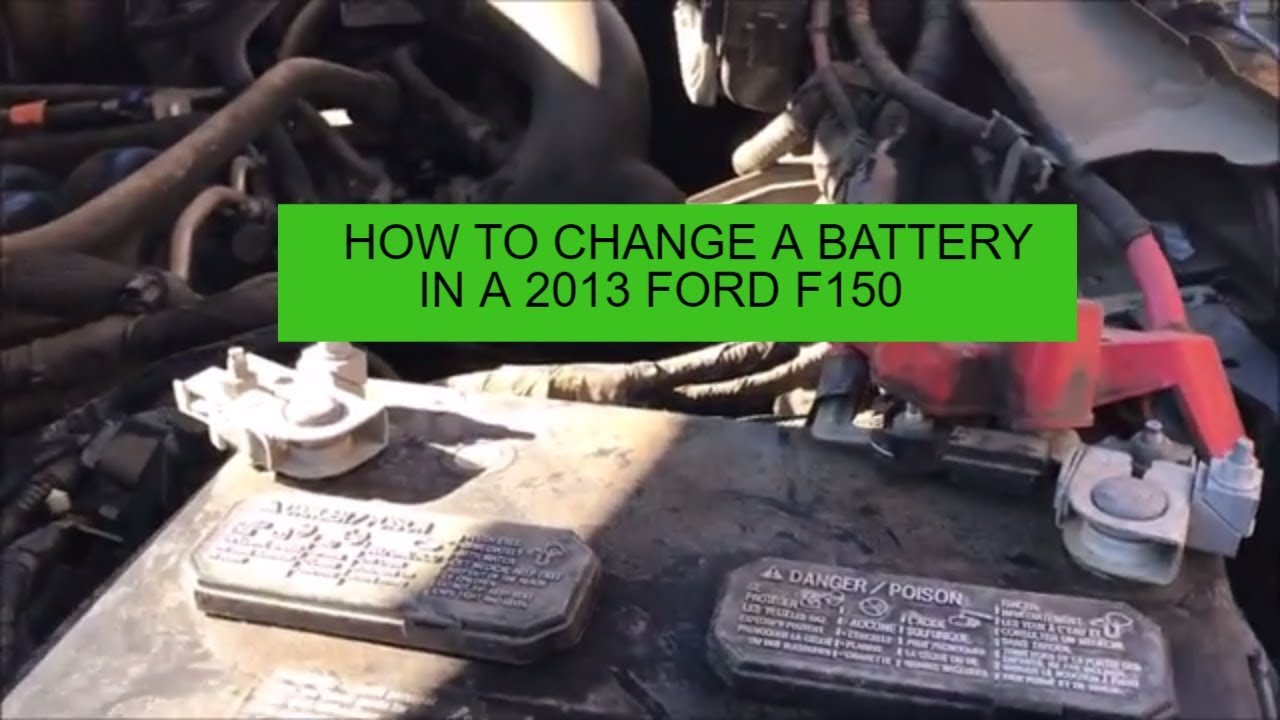 How To Change a Battery in a 2013 Ford F-150 - YouTube