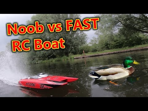 Noob Brushless RC Speed Boat Chase