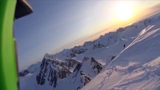 See skier's terrifying 1,600-foot fall off cliff