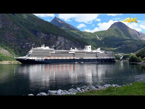 "ms ""Koningsdam"" • Geiranger, Geirangerfjord, Norway • Voyage of the Midnight Sun • Jun 16, 2018"