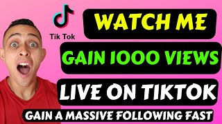 WATCH ME GROW TIKTOK FOLLOWERS LIVE - How to grow fast with TIKTOK (Grow on Instagram and YouTube)