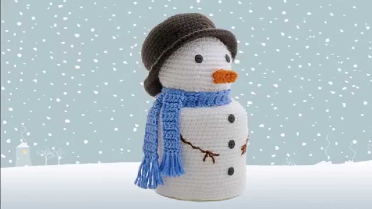 Snowman ~ Amigurumi Crocheted Toilet Paper Cover - YouTube