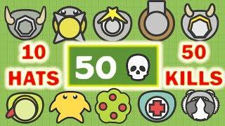 Moomoo.io - 10 Hats, 50 Kills (Moomoo.io Mega Compilation)
