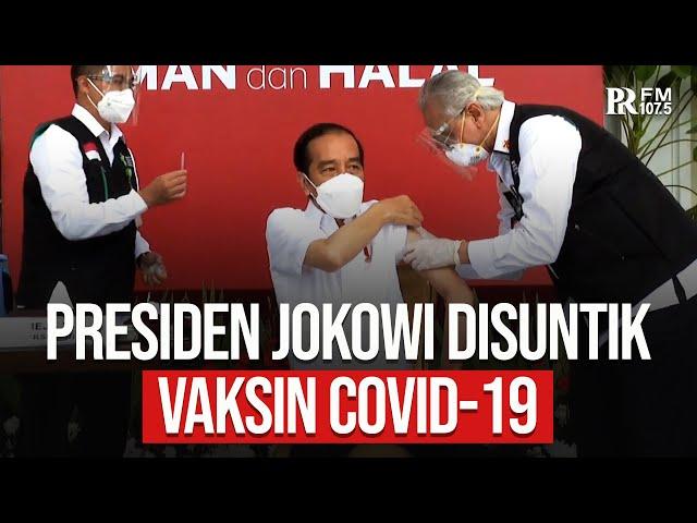 Detik-Detik Presiden Joko Widodo Disuntik Vaksin Covid-19 Sinovac