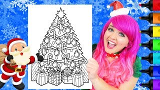 Coloring A Christmas Tree & Presents Holiday Coloring Page Prismacolor Markers   KiMMi THE CLOWN