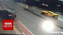 Audi R8 sports car in dramatic crash in Bradford - BBC News