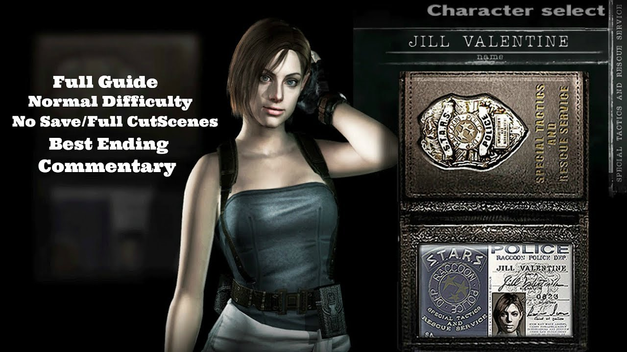 Resident Evil Hd Remake Jill Valentine Re3 Costume Normal Guide W Commentary Best Ending