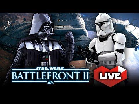 Star Wars Battlefront 2 MASSIVE BATTLES! Multiplayer Gameplay Live Stream!