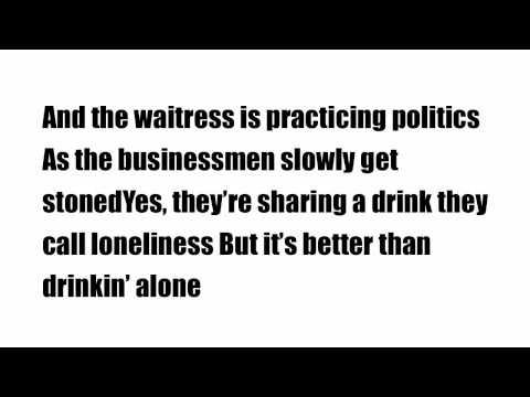 Piano man - Billy Joel Lyrics.