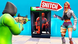 He Was HIDING In A FRIDGE! (Fortnite Snitch Hide And Seek)