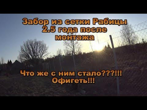 Забор из сетки Рабицы. 2.5 года после монтажа. Что с ним стало!!!